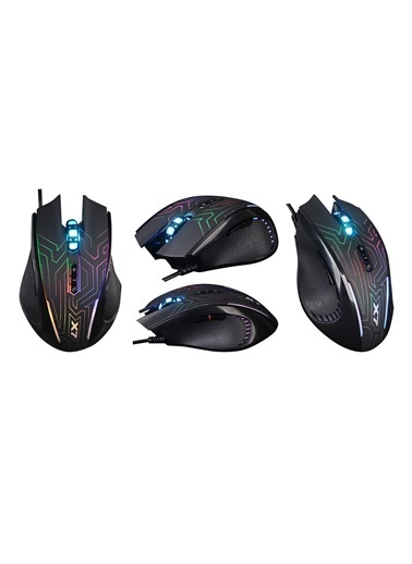 A4 TECH X87 Siyah-Labirent Optik Gamer Mouse 2400  Siyah